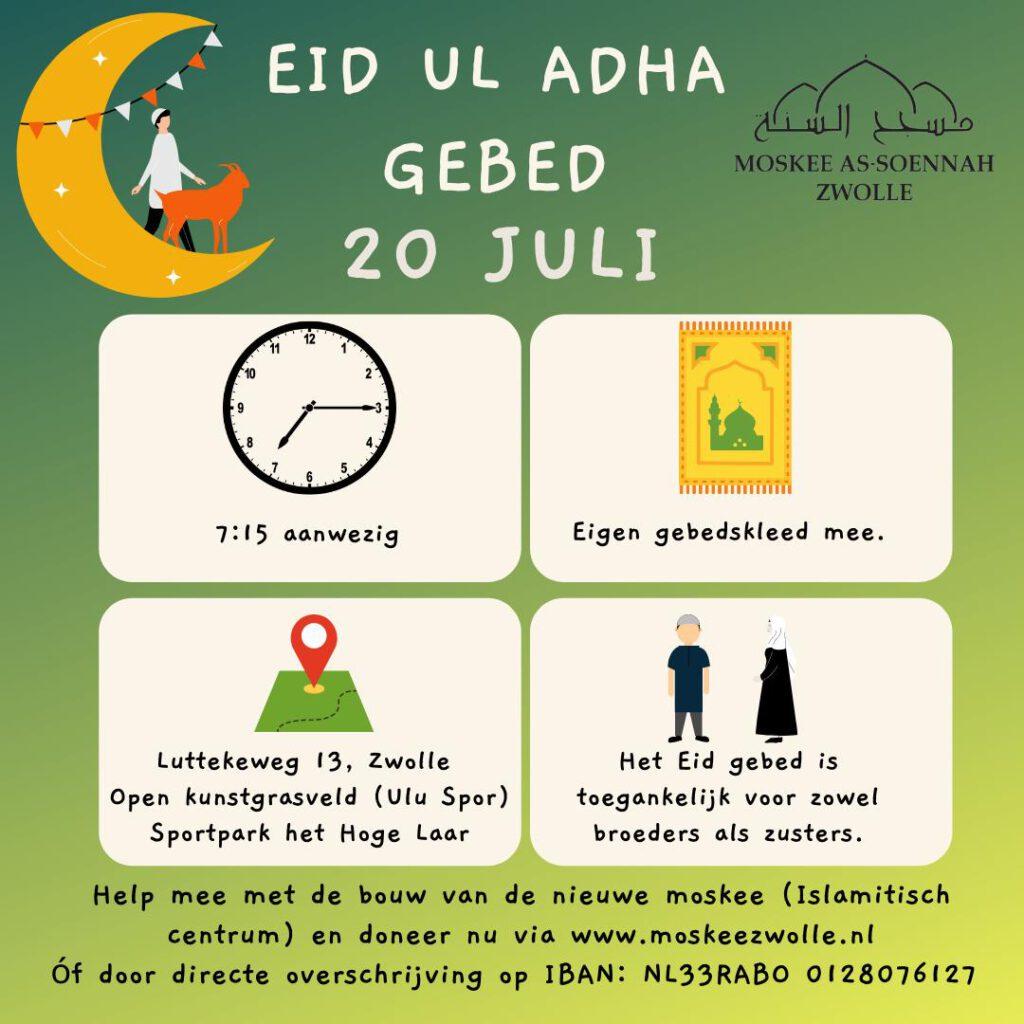 eid Al Adha gebed zwolle